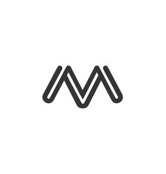 letter m icon alphabet symbol vector image