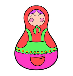 Matryoshka icon cartoon vector