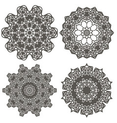 Ornamental geometric ornament vector
