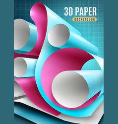 Paper roll background vector