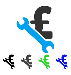 Repair pound business flat icon vector
