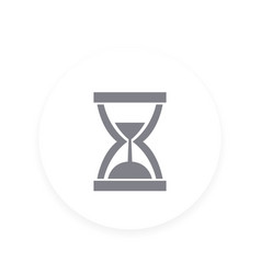 sand clock icon hourglass symbol vector image