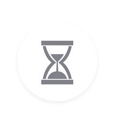 Sand clock icon hourglass symbol vector
