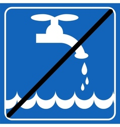 save the water blue sign save the environment vector image vector image