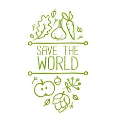 Save the world banner vector