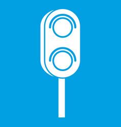 Semaphore trafficlight icon white vector
