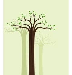 Trees 10 vector image