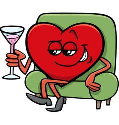 valentine heart cartoon character vector image vector image