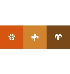 Veterinary care symbols vector