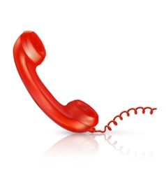 Red handset vector