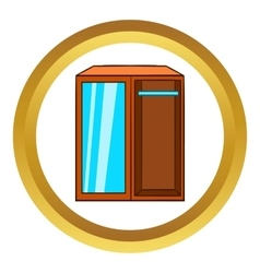Wardrobe icon cartoon style vector