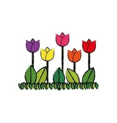 Beautiful flower gardening vector