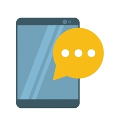 Mobile device bubble speech dialog vector
