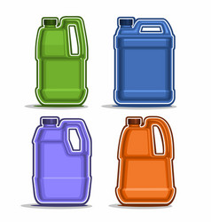 Colored canisters vector