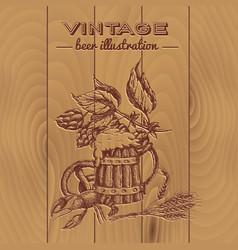 Beer vintage style design vector