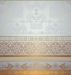 golden and grey vector image