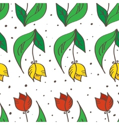 hand drawn seamless tulips pattern Can be used for vector image