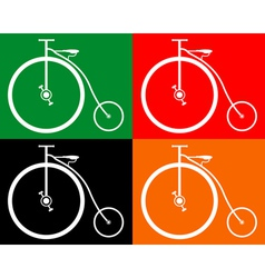 Old bike vector