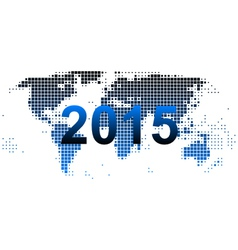 World map 2015 vector image