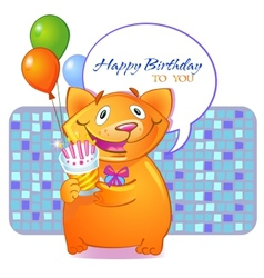 Birthday greetings vector