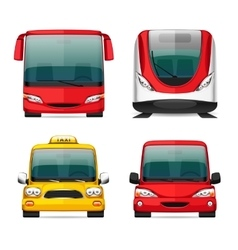 Colorful transportation icons vector