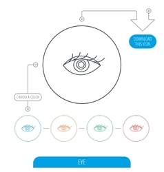 Eye icon human vision sign vector