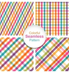 Set of colorful striped seamless patterns vector