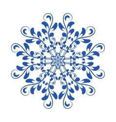 Blue floral russian national ornament in vector