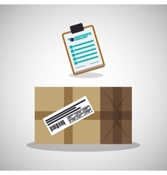 Delivery design shipping icon white background vector
