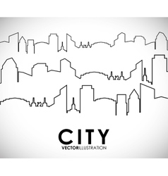 Building and tower icon city design vector