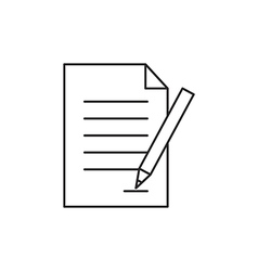 Outline document icon isolated on white vector