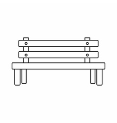 Wooden bench icon outline style vector