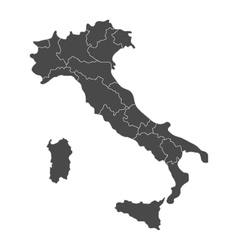 Map of italy with regions vector