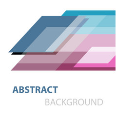 abstract geometric overlapping on white background vector image vector image