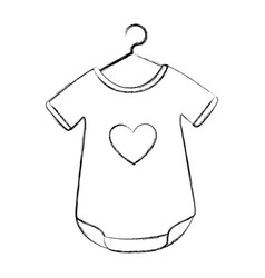 baby outfit with heart vector image vector image