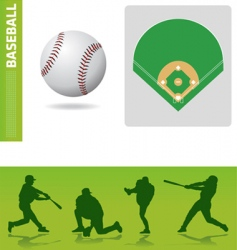 baseball design elements vector image vector image