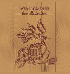Beer vintage style design vector