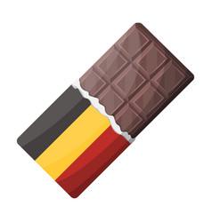 belgian chocolatethe dark belgian wolf belgiu vector image