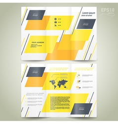brochure design geometric abstract vector image