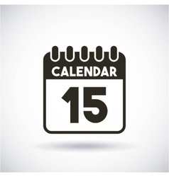 Calendar reminder with day 15 vector