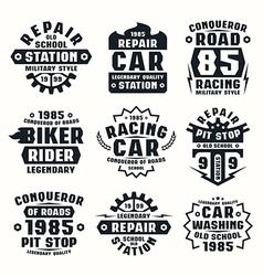 Car repair badges vector