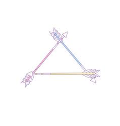Cute arrows element with ornamental design vector
