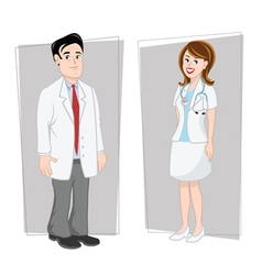 doctors male female vector image