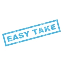 Easy take rubber stamp vector