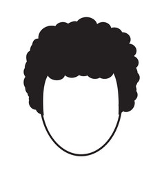 Flat black hairstyle icon vector