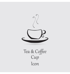 Greyscale icon of cup vector