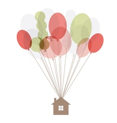 Home air balloon thread vector