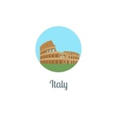 Italy landmark isolated round icon vector image
