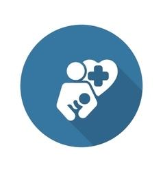 Life Care Icon Flat Design vector image