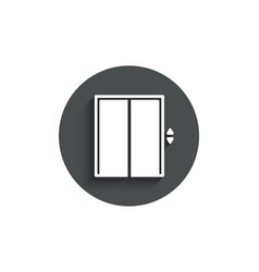 lift simple icon elevator sign vector image